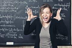 Desperate teacher stock image