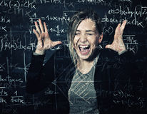 Desperate teacher Royalty Free Stock Images