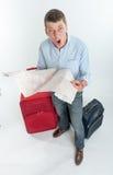 Desperate traveler Royalty Free Stock Photography
