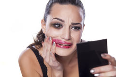 Desperate woman Stock Photography