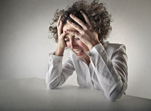Desperate woman crying Royalty Free Stock Photography