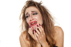 Desperate woman Royalty Free Stock Images