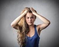 Desperate woman stock photos