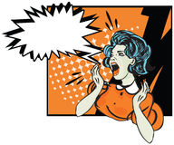 Desperate woman - retro clip art  Illustration Stock Images