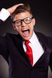 Desperate young business man Stock Images