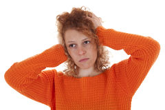 Desperate young woman Royalty Free Stock Photo