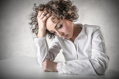 Desperate young woman Stock Photography