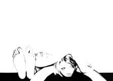 desperated женщина Стоковая Фотография