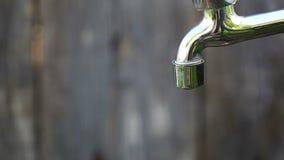 Desperdício da água video estoque