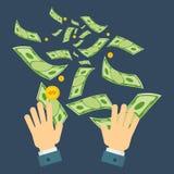 Desperdício da mão do dinheiro Imagens de Stock