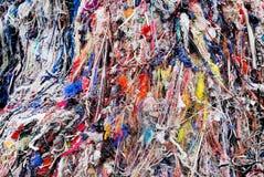 Desperdício de matéria têxtil em Bangladesh fotografia de stock