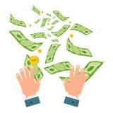 Desperdício do branco do dinheiro Imagens de Stock Royalty Free