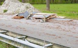 Desperdício em uma estrada abandonada nos Países Baixos Fotos de Stock