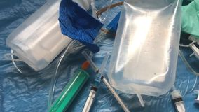 Desperdício médico e clínico, conceito livre plástico vídeos de arquivo