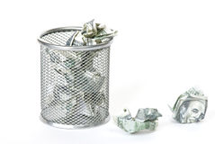Desperdiçando o dinheiro Foto de Stock Royalty Free