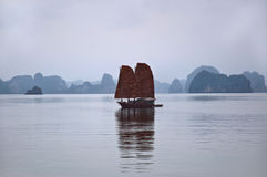 Desperdicios, bahía de Halong Imagenes de archivo