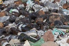 Desperdicios de la descarga en el ambiente protegido fotos de archivo libres de regalías