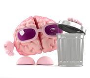 desperdicios del cerebro 3d ilustración del vector