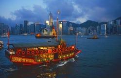 Desperdicios en el puerto de Hong-Kong Foto de archivo libre de regalías