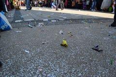 Desperdicios en la calle Fotos de archivo libres de regalías