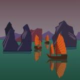 Desperdicios que flotan en el mar de Andaman libre illustration