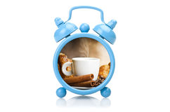 Despertador azul viejo Imagen de archivo libre de regalías