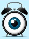 Despertador com globo ocular olhar fixamente ilustração do vetor