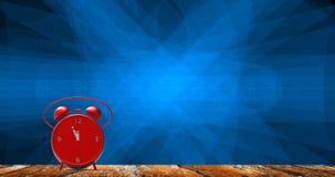 Despertador com minutos pequenos ao pulso de disparo do ` de doze o Imagens de Stock Royalty Free