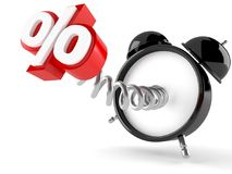 Despertador com símbolo dos por cento Fotografia de Stock
