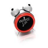 Despertador como a face shouting estilizado Fotografia de Stock