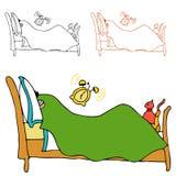 Despertador da manhã ilustração royalty free