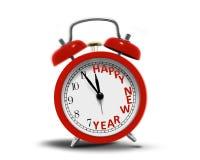 Despertador de la Feliz Año Nuevo Foto de archivo libre de regalías