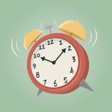 Despertador de la historieta Foto de archivo libre de regalías