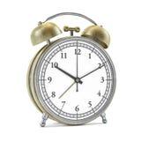 Despertador do estilo antigo isolado no branco 3d Imagens de Stock