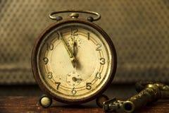 Despertador do vintage foto de stock