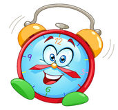 Despertador dos desenhos animados ilustração royalty free