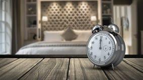 Despertador en dormitorio