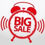 Despertador grande de la venta, vector Foto de archivo libre de regalías