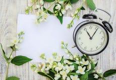 Despertador 10 horas Flores Fotografia de Stock Royalty Free