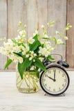 Despertador 10 horas Flores Imagens de Stock