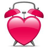 Despertador na forma do coração ilustração royalty free