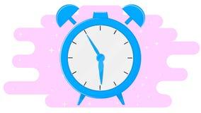 Despertador no projeto liso Fotos de Stock Royalty Free