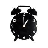 Despertador preto isolado no fundo branco Fotos de Stock