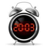 Despertador retro com cara digital. Fotografia de Stock Royalty Free