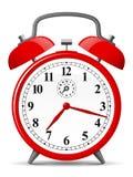 Despertador retro vermelho ilustração do vetor