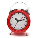 Despertador rojo Foto de archivo libre de regalías