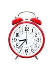 Despertador rojo Imágenes de archivo libres de regalías