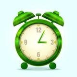 Despertador verde Imagenes de archivo