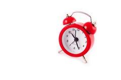 Despertador vermelho fotografia de stock royalty free