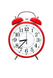 Despertador vermelho Imagens de Stock Royalty Free